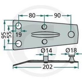 Suport cutit coasa rotativa 06563514