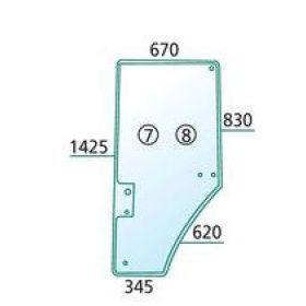 Usa sticla dreapta R131164 ; 650S31164