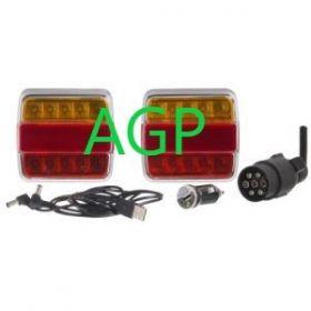 Lampa semnalizare 12V cu led fara cablu 60025
